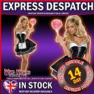 FANCY DRESS COSTUME ~ LADIES SECRET WISHES SEXY MAID XS 6-8